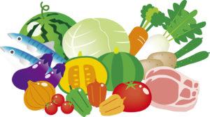 野菜や肉のイラスト