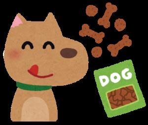 ご飯を喜ぶ犬